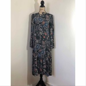 NWT ZARA Gorgeous Floral Print Long Dress *S